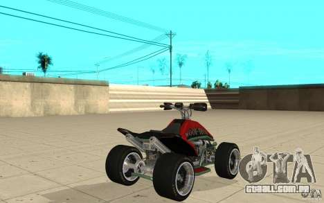 Powerquad_by-pele 2-MF Woofi para GTA San Andreas traseira esquerda vista