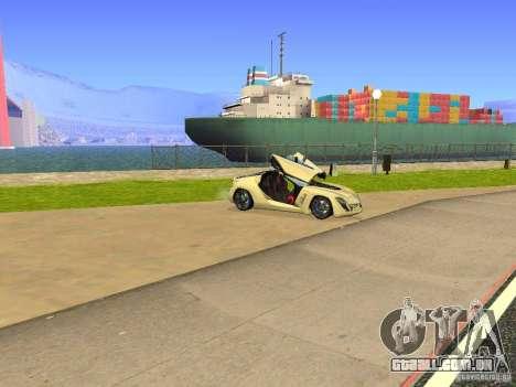 Bertone Mantide para GTA San Andreas vista superior