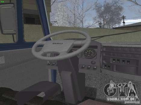 KAMAZ 5460 Sport para GTA San Andreas vista interior