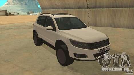 Volkswagen Tiguan 2012 v2.0 para GTA San Andreas vista traseira