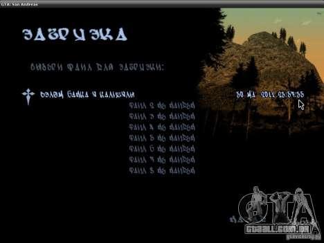 A fonte do NFS MW V2 para GTA San Andreas terceira tela