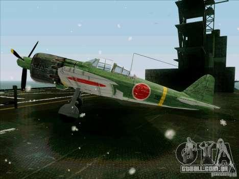 Aviões japoneses para GTA San Andreas esquerda vista