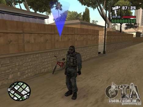 Mercenário de perseguidor em máscara para GTA San Andreas