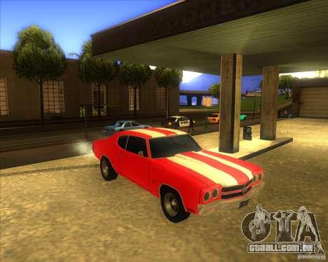 Chevy Chevelle SS stock 1970 para GTA San Andreas vista traseira