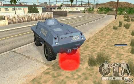 A guarda de BTR para GTA San Andreas terceira tela