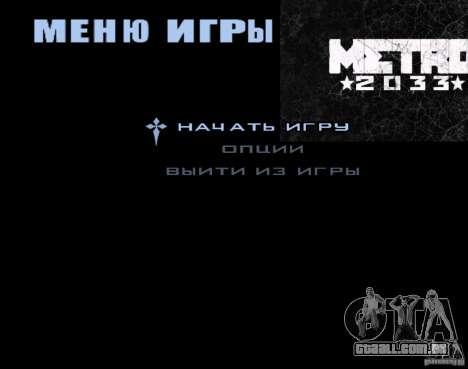 Telas de carregamento Metro 2033 para GTA San Andreas terceira tela
