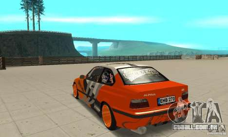 BMW Alpina B8 WideBody para GTA San Andreas traseira esquerda vista