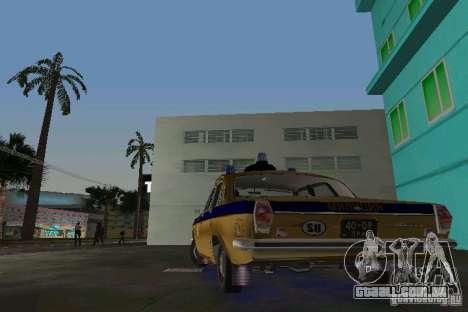 GAZ-24-milícia para GTA Vice City vista traseira esquerda
