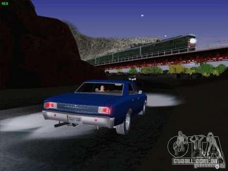 Chevrolet Chevelle para GTA San Andreas vista superior