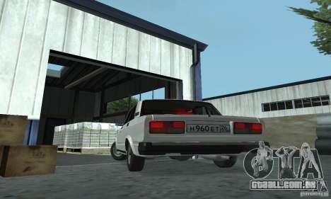 Vaz 2107 Stock v.2 para GTA San Andreas traseira esquerda vista