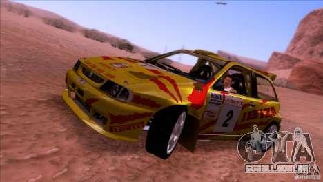 Seat Ibiza Rally para GTA San Andreas traseira esquerda vista