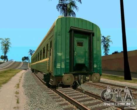 O carro das ferrovias russas 2 para GTA San Andreas esquerda vista
