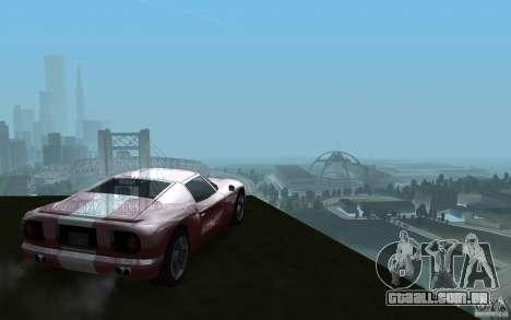 ENBSeries v1 for SA:MP para GTA San Andreas por diante tela