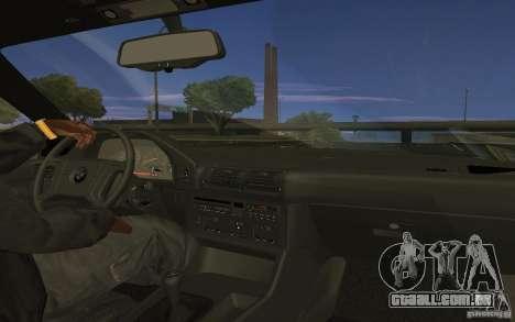 BMW 525 (E34) V.2 para GTA San Andreas esquerda vista