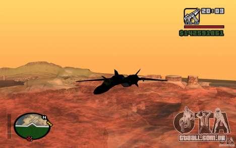 Y-f19 macross Fighter para GTA San Andreas esquerda vista