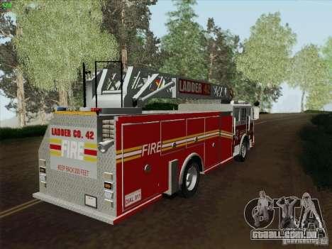 Seagrave Ladder 42 para GTA San Andreas esquerda vista