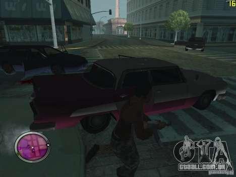 Nova zona GANGSTER para GTA San Andreas por diante tela