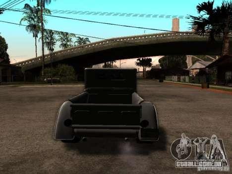 Ford Farmtruck para GTA San Andreas traseira esquerda vista