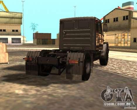 ZIL 5417 CONFORME para GTA San Andreas traseira esquerda vista