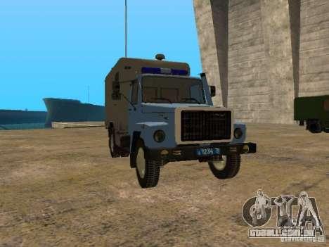 GAZ 3309 camburão para GTA San Andreas esquerda vista