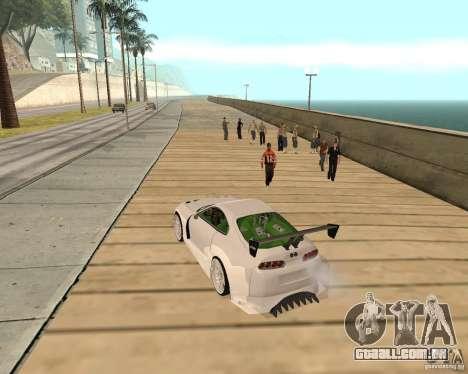 Toyota Supra TwinTurbo para GTA San Andreas vista traseira