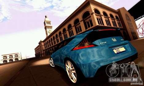 Honda CR-Z 2010 V2.0 para vista lateral GTA San Andreas