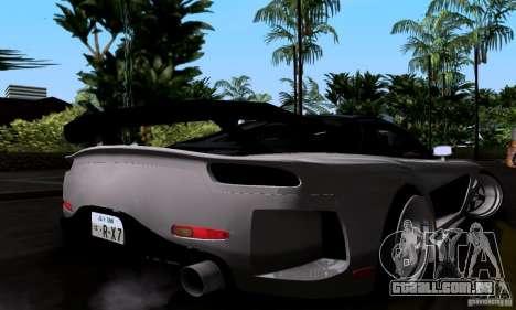 Mazda RX-7 para GTA San Andreas vista inferior