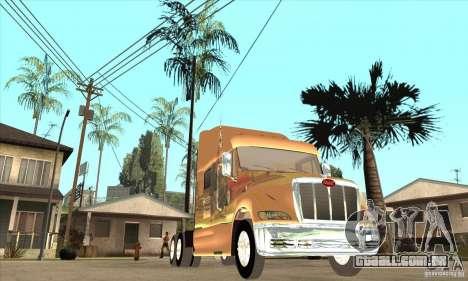 Peterbilt 387 pele 3 para GTA San Andreas vista interior