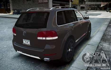 Volkswagen Touareg R50 para GTA 4 traseira esquerda vista