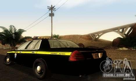 Ford Crown Victoria Montana Police para GTA San Andreas esquerda vista