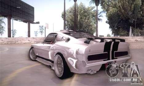 Shelby GT500 para GTA San Andreas traseira esquerda vista