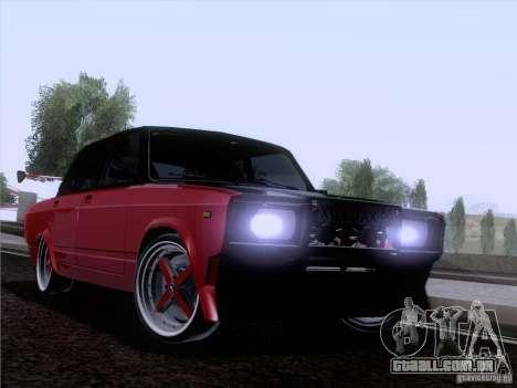VAZ-2107 carro Tuning para GTA San Andreas vista traseira