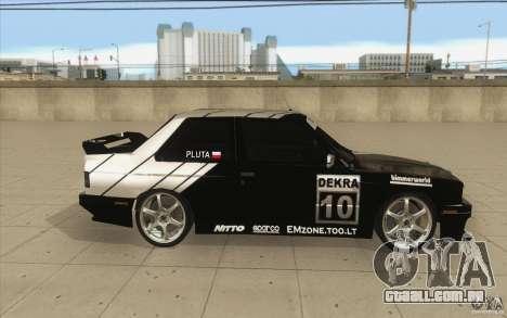 BMW E30 M3 - Coupe Explosive para GTA San Andreas vista interior