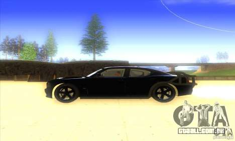 Dodge Charger From Fast Five para GTA San Andreas traseira esquerda vista