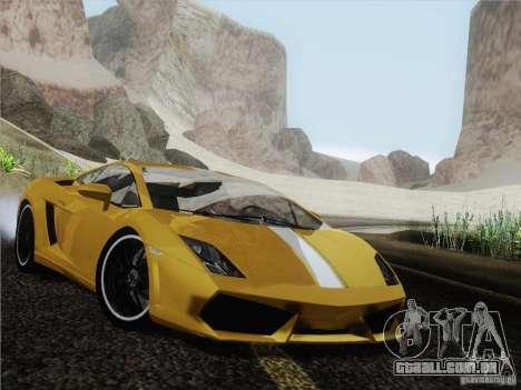 Lamborghini Gallardo LP640 Vallentino Balboni para GTA San Andreas traseira esquerda vista