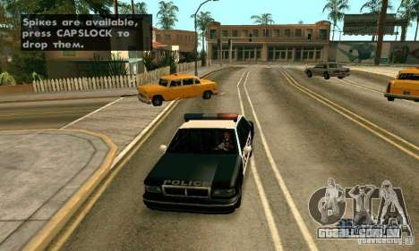 Os picos na estrada para GTA San Andreas quinto tela