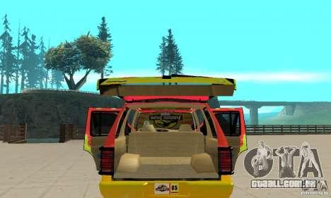Ford Explorer (Jurassic Park) para vista lateral GTA San Andreas