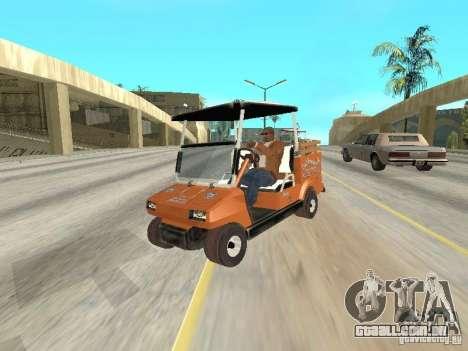 Golfcart caddy para GTA San Andreas vista traseira