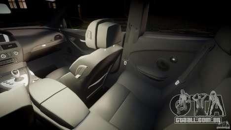 BMW M6 2010 v1.0 para GTA 4 vista interior