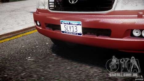 Toyota Land Cruiser 100 Stock para GTA 4 vista inferior