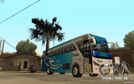 Hino New Travego V.Damri para GTA San Andreas vista traseira