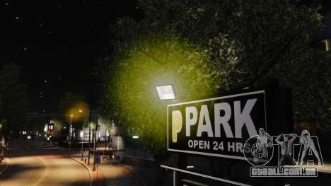 Luzes de luz amarelas para GTA 4 quinto tela