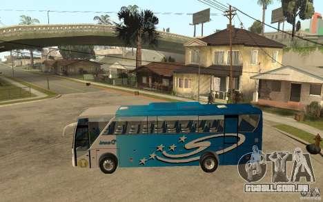 Hino New Travego V.Damri para GTA San Andreas esquerda vista