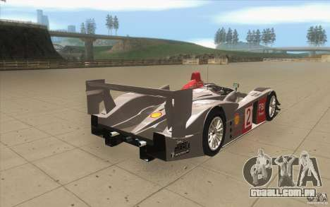Audi R10 LeMans - Stock para vista lateral GTA San Andreas