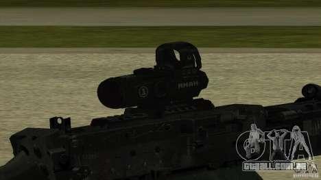 M240 para GTA San Andreas terceira tela