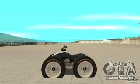 QUAD BIKE Custom Version 1 para GTA San Andreas esquerda vista