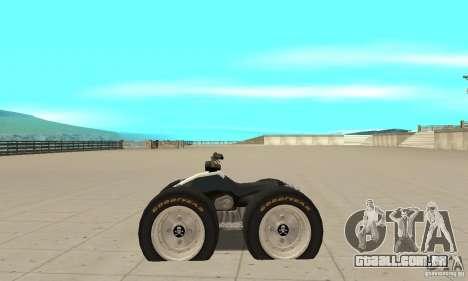 QUAD BIKE Custom Version 1 para GTA San Andreas esquerda vista