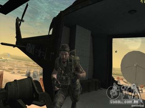 Helicóptero Huey da chamada do dever ops preto para vista lateral GTA San Andreas
