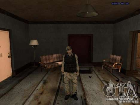 Army Soldier Skin para GTA San Andreas terceira tela