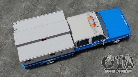 GMC C3500 NYPD ESU para GTA 4 vista direita
